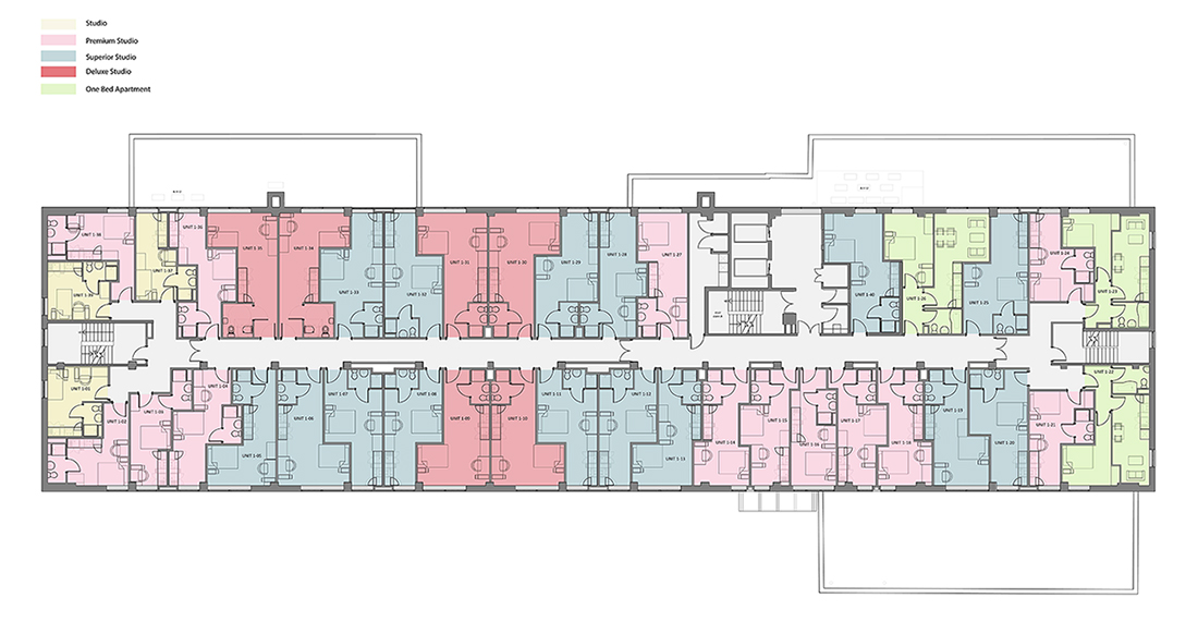 Rede House - First Floor - Rendered Plan