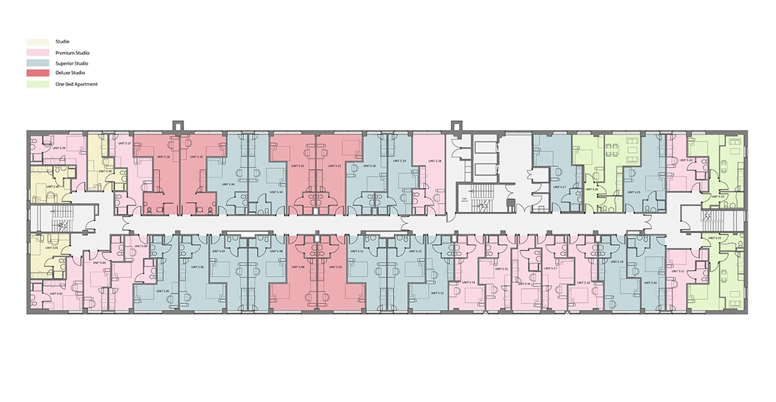Rede House - Fifth Floor - Rendered Plan