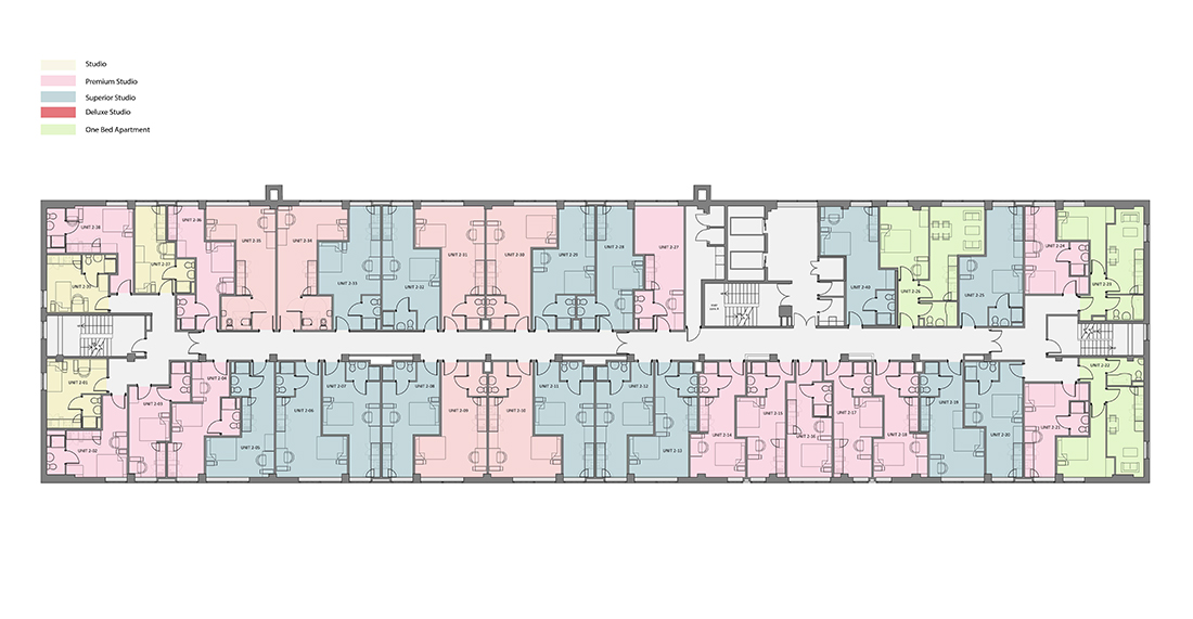 Rede House - Second Floor - Rendered Plan
