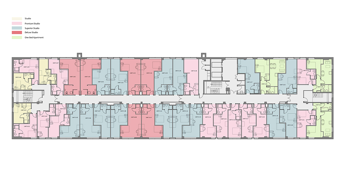 Rede House - Sixth Floor - Rendered Plan