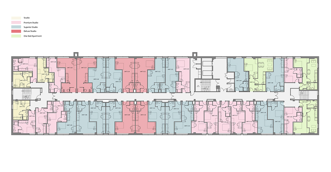 Rede House - Third Floor - Rendered Plan