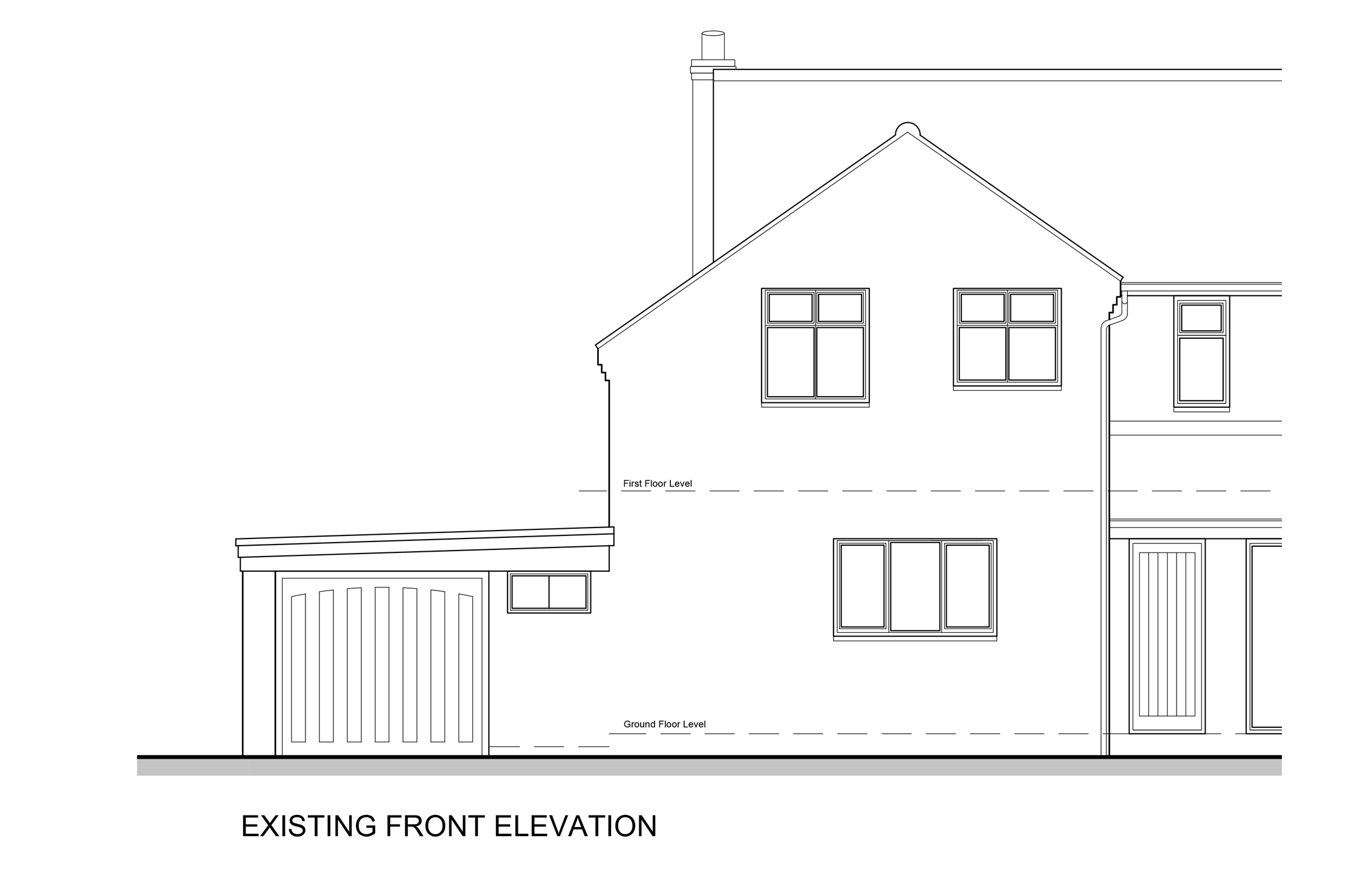 Front elevation existing