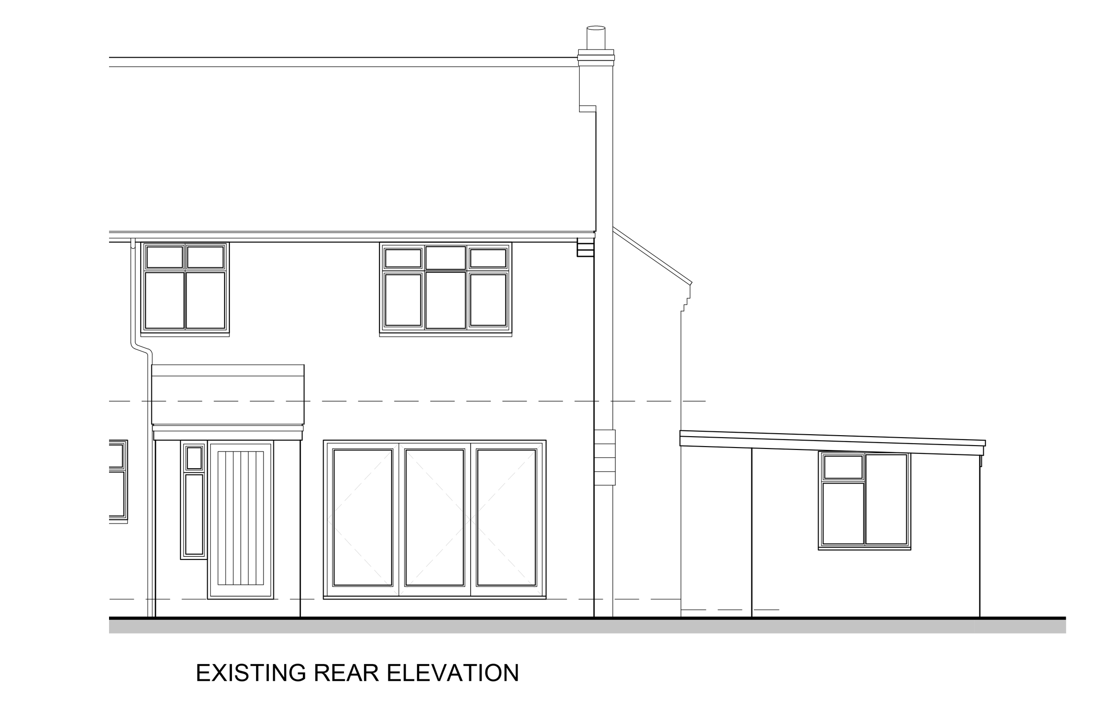 Rear Elevation Existing
