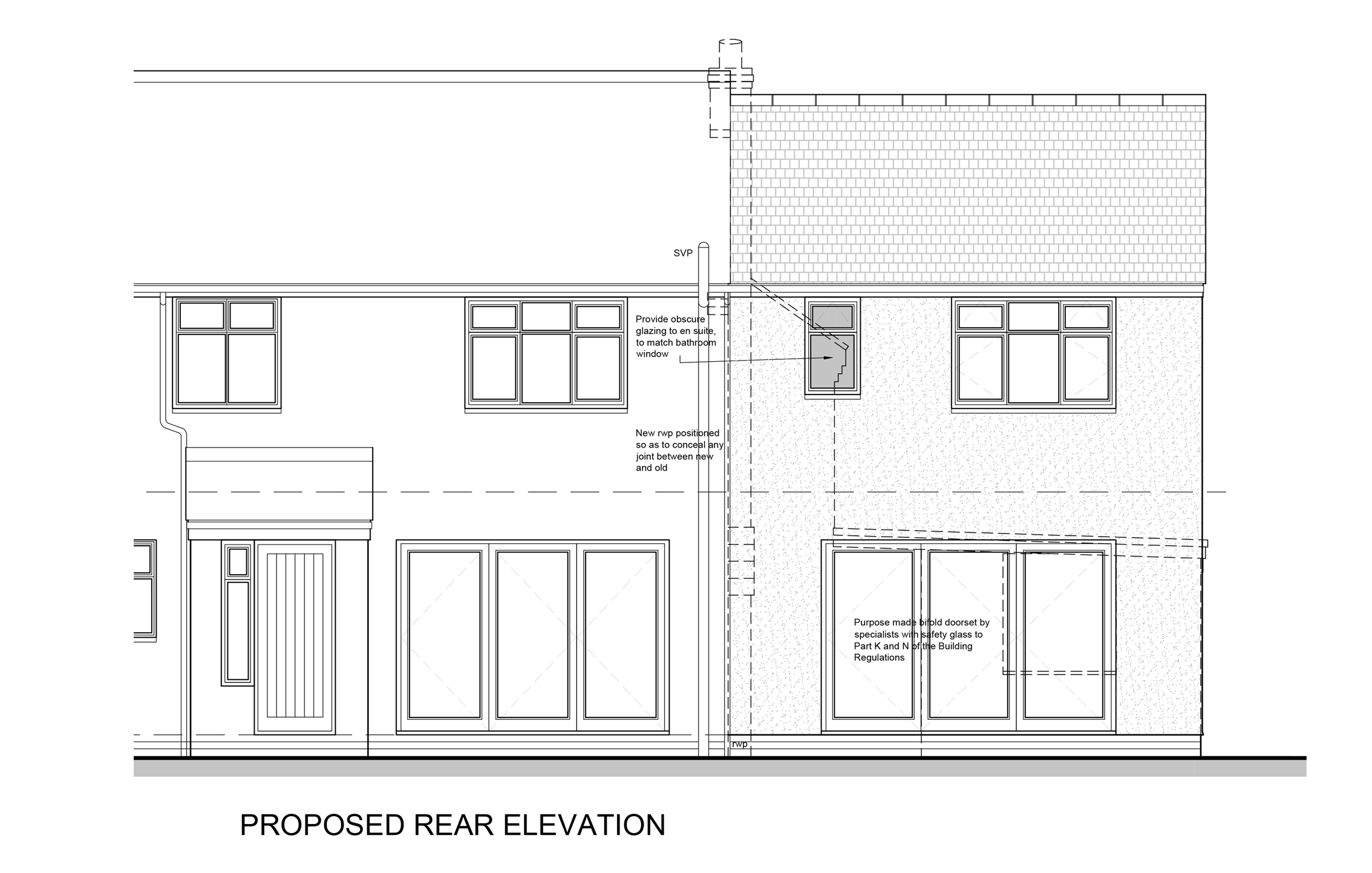 Rear Elevation Proposed