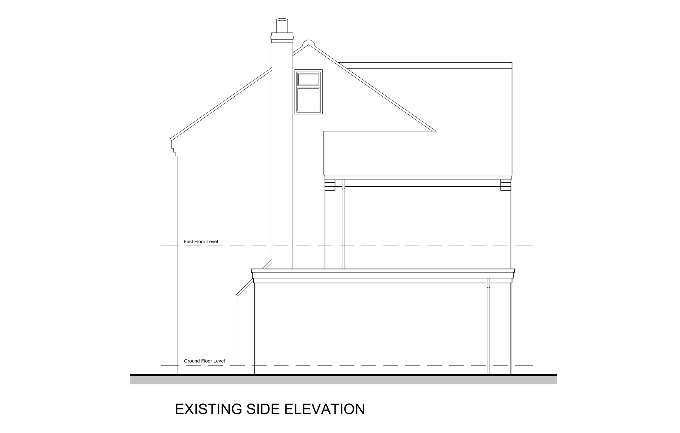 Side elevation existing