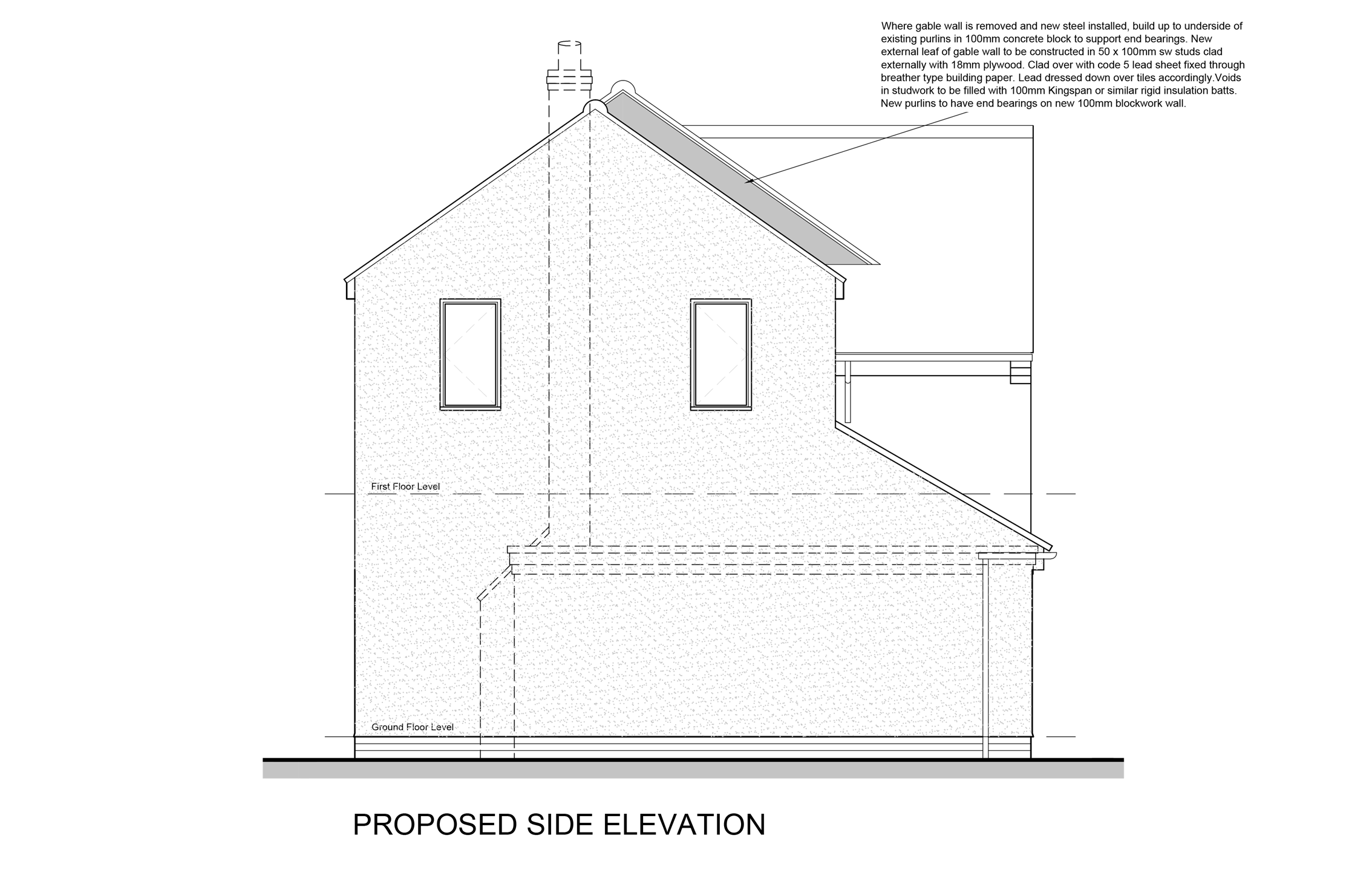Side elevation proposed