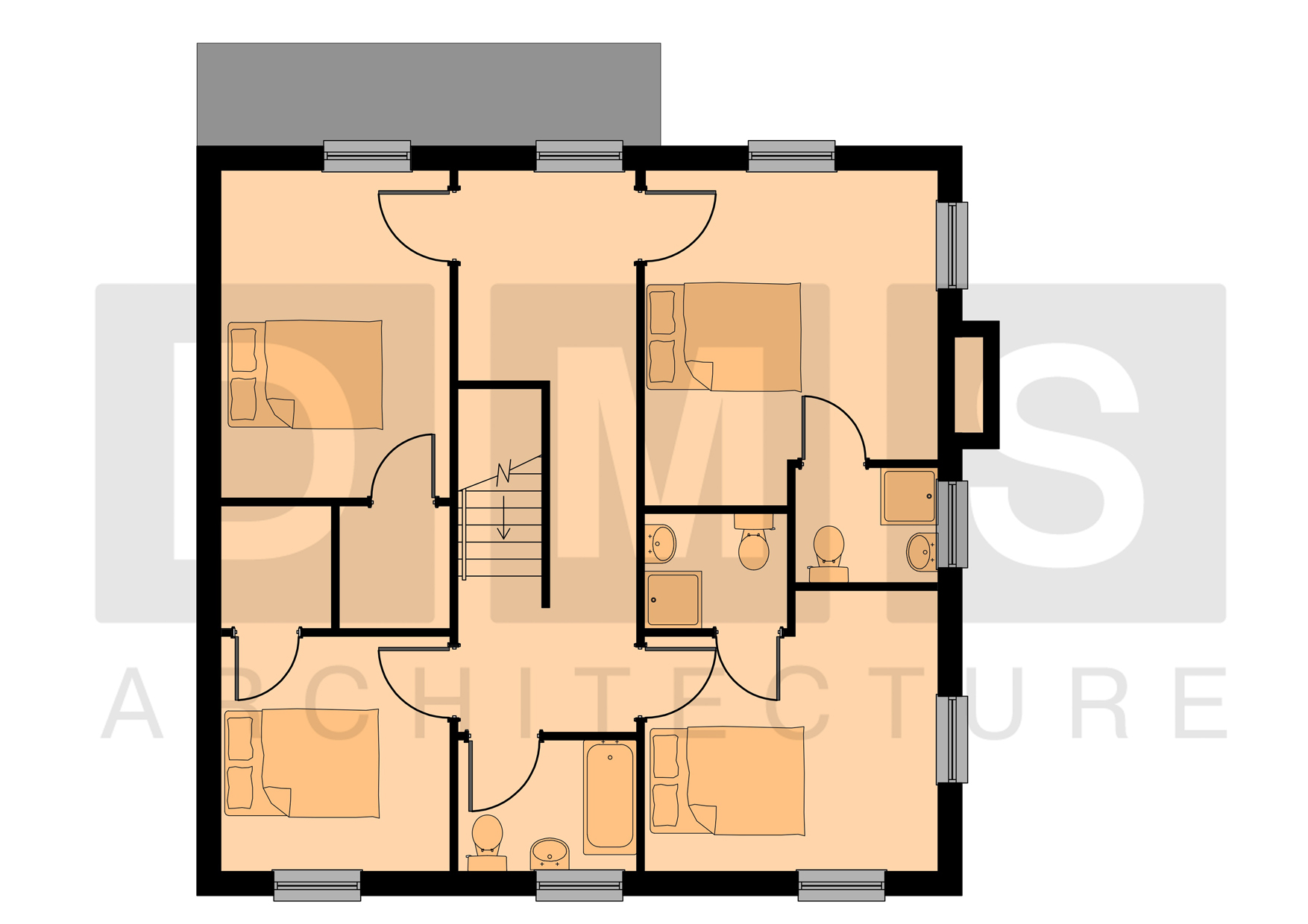 First Floor Plan Rendered